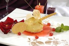 Waffle Dessert Royalty Free Stock Photo