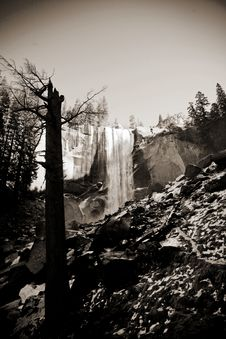 Nevada Falls In Yosemite Royalty Free Stock Photography