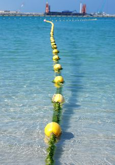 Free Yellow Floats Line Stock Photography - 8279962