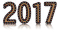 Free Happy Happy New Year  2017 Brown Color Royalty Free Stock Images - 82787689