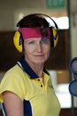 Free Female Competitor At Shooting Range Stock Images - 8280904