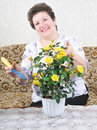Free Nice Woman With Flower Stock Images - 8281924