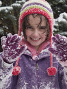 Free Girl Playing In The Snow Royalty Free Stock Image - 8284036