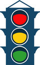 Free Vector Traffic Lights Royalty Free Stock Image - 8288336