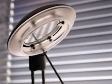 Free Lamp Against Venetian Blind Stock Photos - 8280003