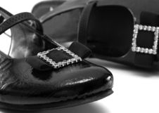 Free Black Varnish Lady S Shoes. Royalty Free Stock Photos - 8280068