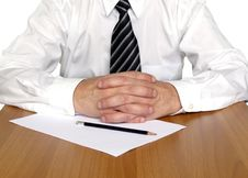 Free Business Man Sitting On The Table Royalty Free Stock Photos - 8280088