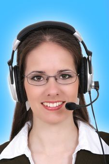 Free Woman With Headphone Stock Photography - 8280662