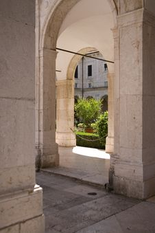 Free External Corridor At Monte Cassino Stock Images - 8280914