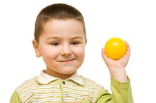 Free Child With Ball Royalty Free Stock Image - 8280956