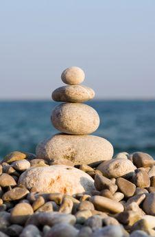 Free Stones On The Sea Royalty Free Stock Photos - 8280988