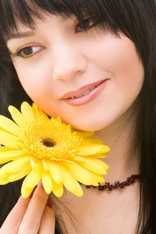 Free Young Woman With Flower Royalty Free Stock Photo - 8281305