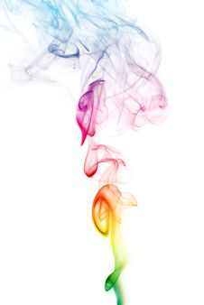 Colorful Rainbow Smoke Royalty Free Stock Photography