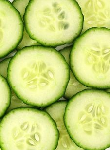 Free Cucumber Slices Stock Photo - 8281630