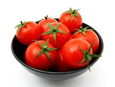 Free Tomatoes In A Bowl Stock Image - 8281671