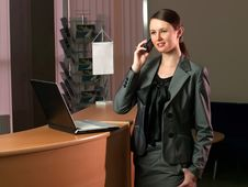 Free Attractive Business Woman Having A Call Stock Image - 8282201