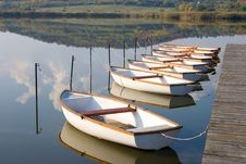 Free White Boats On Calm Water Surface. Royalty Free Stock Photo - 8282335