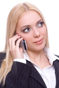 Free Young Business Woman Calling Royalty Free Stock Images - 8282819