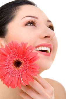Free Young Woman With Flower Stock Images - 8283224