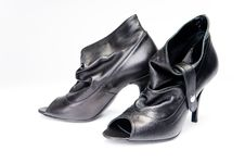 Free Black Female Shoes Stock Photography - 8283522