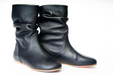 Free Old-fashioned Female Boots Royalty Free Stock Image - 8283626