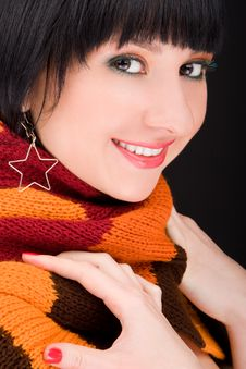Free Portrait Of The Woman With Scarf Stock Image - 8283691