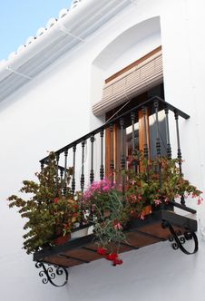 Free Pretty Planted Balcony ( Spain ) Royalty Free Stock Photo - 8283975