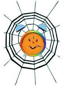 Free Cobweb And Clock Stock Photo - 8284440