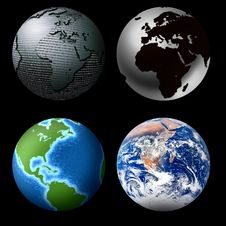 Free Globes Stock Photography - 8285082