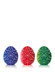 Free Three Easter Egg With Reflection Stock Photo - 8285310
