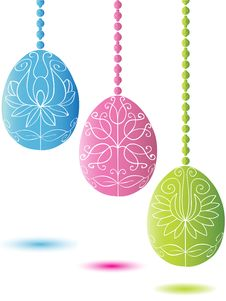 Free Three Hanging Easter Egg Royalty Free Stock Photo - 8285335