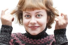 Funny Young Woman Royalty Free Stock Photography