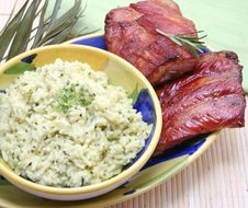 Free Meat And Risotto Royalty Free Stock Photos - 8285658
