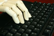 Typing On The Keyboard Royalty Free Stock Photo