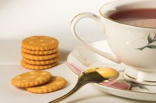 Free Cup Of Tea And Crackers Stock Photo - 8285720