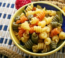 Pasta Tricolor Stock Photos