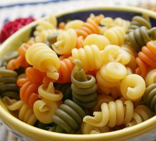 Pasta Tricolor Royalty Free Stock Photo