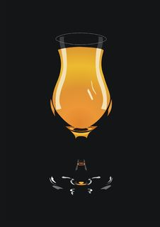 Glass With Orange Juice Stock Photos