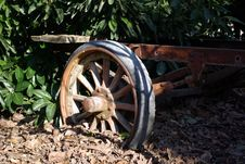 Free Old Trailer Wheel Royalty Free Stock Photography - 8286567