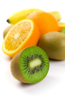 Free Kiwi, Oranges And Bananas Stock Photos - 8286573