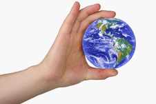 Free Earth In Man S Hand Stock Images - 8286954