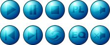 Light Blue Buttons Collection Stock Photo