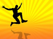 Free Jump Silhouette Royalty Free Stock Photos - 8287318