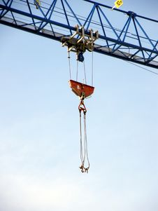 Construction Crane Hooks Stock Images