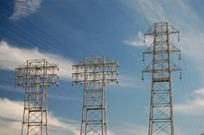 Free High Tension Power Lines Royalty Free Stock Images - 8287699