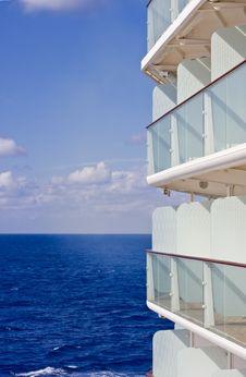 Free Balconies Cruising On Blue Water Royalty Free Stock Photo - 8288095
