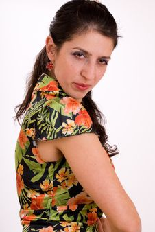 Free The Young Suspicious Woman Stock Photography - 8288192