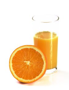 Free Fresh Orange Juice And Orange Stock Photo - 8289090