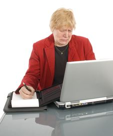 Businesswoman Is Getting Bad News Stock Images