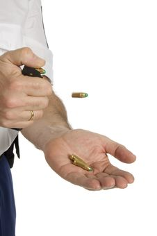 Free Clicking Bullets Out Of The Holder Royalty Free Stock Image - 8289246